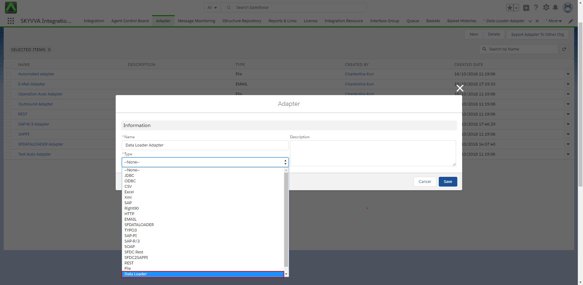 7 3 Data Loader Adapter – SKYVVA (Salesforce SAP, SAP-PI