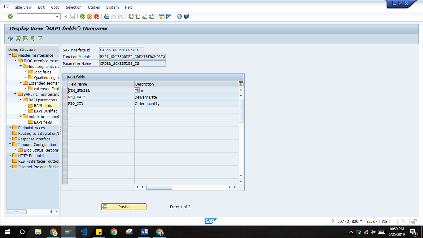 Create sales order in SAP from Salesforce using BAPI