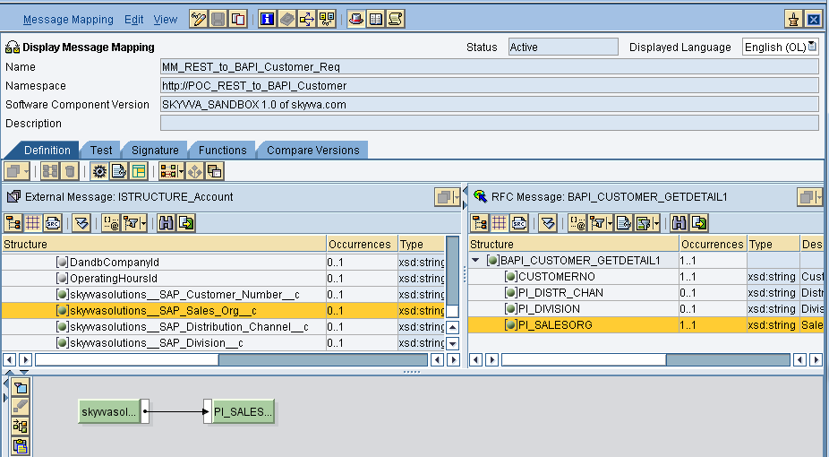 How to create an outbound synchronous BAPI interface in SAP