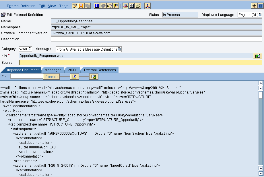 How to create an outbound synchronous proxy interface in SAP